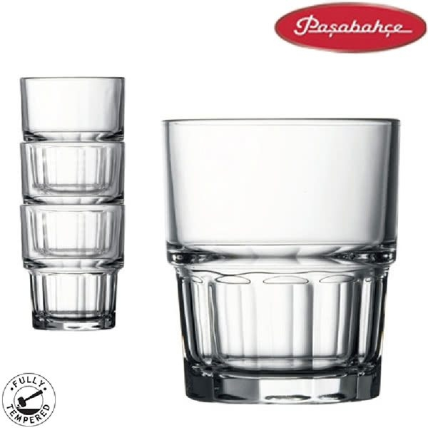 土耳其pasabahce史瓦特強化可疊杯系列 165cc 玻璃杯 水杯 果汁杯