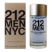 Carolina Herrera 212 MEN 都會男性淡香水 7ml 小香 49274《Belle倍莉小舖》