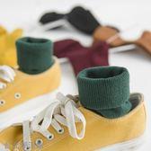 韓國夏季襪女純色日繫中筒女士堆堆襪學生短靴全棉保暖5雙裝
