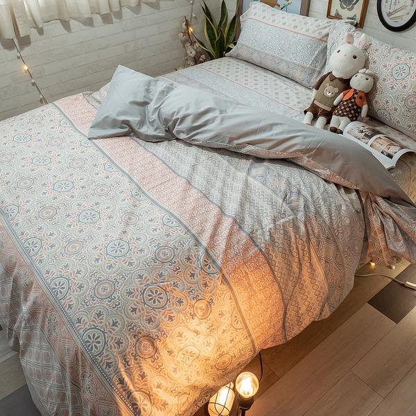 青花瓷 K3 King Size床包與兩用被四件組 100%精梳棉 台灣製
