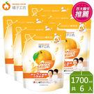 橘子工坊天然濃縮洗衣精制菌加量補充包6包...