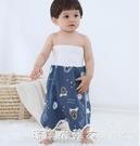 寶寶隔尿裙嬰兒隔尿墊尿布褲尿床神器兒童防漏防水可洗大號戒尿兜【美眉新品】