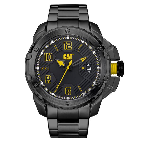 【CAT Watch】Construct強勁風格日期鋼帶腕錶-霸氣黑/DW.161.16.131/台灣總代理公司貨享兩年保固