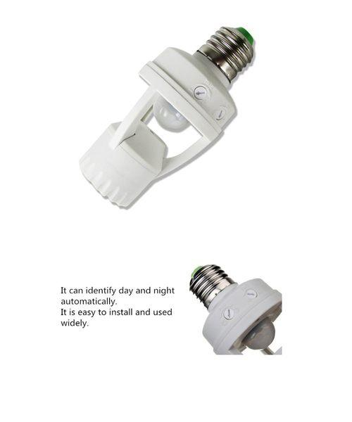 紅外線人體感應燈座(E27螺口)