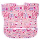 【佳兒園婦幼館】Baby City 防水短袖圍兜-粉色兔子(1-3歲)