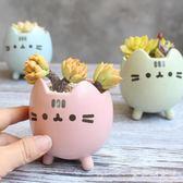 花器 花盆可愛貓咪動物卡通創意粗陶瓷小號盆栽迷你小花盆 df3488【大尺碼女王】