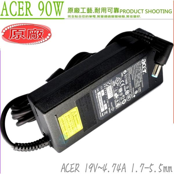 ACER 19V,4.74A,90W 變壓器(原廠)- 3410,3820,3820T,4820,4820T,5820,5820T,5745,5745G 8331,8371,8471