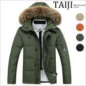 軍風造型內口袋毛邊連帽立領保暖高含量羽絨外套‧四色‧加大尺碼【NTJB8232】-TAIJI-