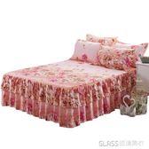 床裙單件加厚全棉床罩純棉床笠床蓋套床單1米8床防滑保護套    琉璃美衣