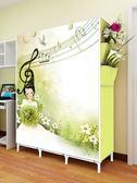 簡易布藝衣柜鋼管加固簡約現代折疊衣櫥宿舍組裝經濟型    伊芙莎igo