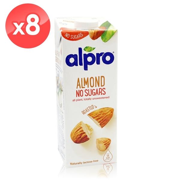 【ALPRO】無糖杏仁奶8瓶組 (1公升*8瓶) 效期2021/04