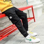 中大童男童工裝褲休閒運動褲子加絨加厚兒童秋冬裝2019新款韓版潮