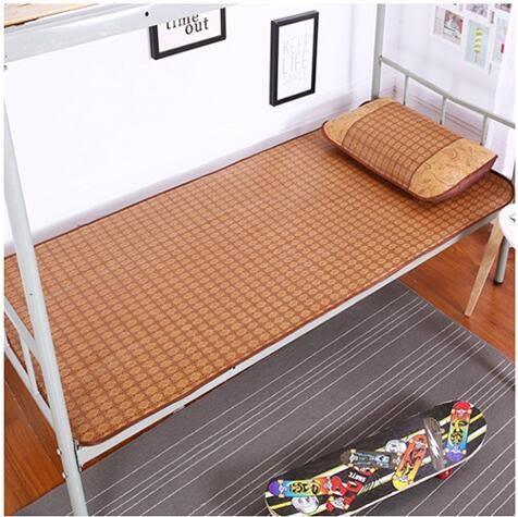 學生宿舍單人床上下鋪可折疊夏季冰絲草席yhs3742【123休閒館】
