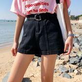 黑五好物節春夏女裝韓版高腰百搭捲邊牛仔褲短褲寬鬆褲學生顯瘦潮