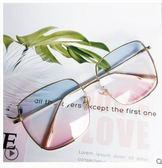 原宿ulzzang眼鏡網紅女方框平光鏡大框圓臉太陽鏡鏡男 萊俐亞美麗