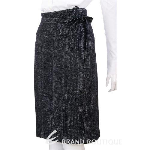 BRUNO MANETTI 深灰色綁帶毛呢及膝裙 1040090-06