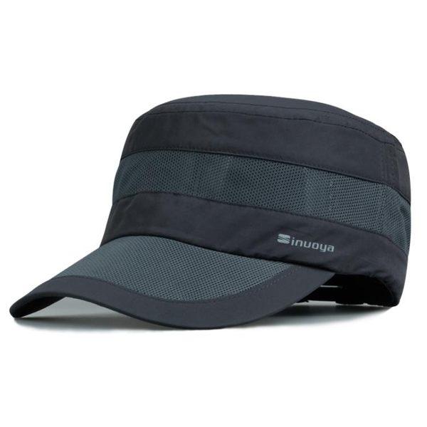 卡車帽帽子男士平頂帽正韓潮戶外防曬遮陽帽速幹太陽帽棒球帽鴨舌帽 快速出貨