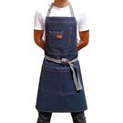 【超殺價$359】韓版時尚廚房牛仔圍裙 咖啡店餐廳美甲畫畫男女工作服訂製LOGO店名 降價兩天