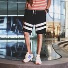 FINDSENSE H1 2018 夏季 新款 男 個性 拼接條紋  舒適透氣