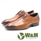 W&M 素色極簡綁帶男皮鞋-棕(另有黑)...