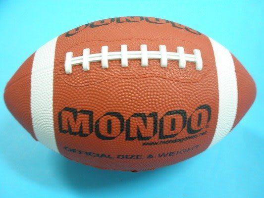 MONDO 美式足球 橄欖球 9號標準比賽球/一個入{定250} 美式橄欖球 橡膠皮質~群Z-F9
