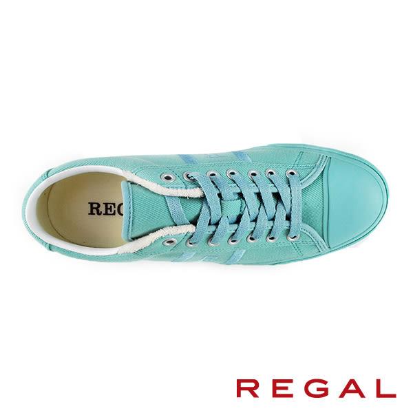 【REGAL】休閒時尚運動帆布男鞋 淺藍(60KR-BLU)