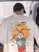 夏季小清新韓版卡通印花短袖T恤日系男士寬鬆半袖潮艾美時尚衣櫥