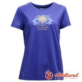 【wildland 荒野】女 椰炭紗抗菌圓領印花上衣『紫羅蘭』0A71611 T恤 休閒 抗紫外線 吸濕 排汗 印花