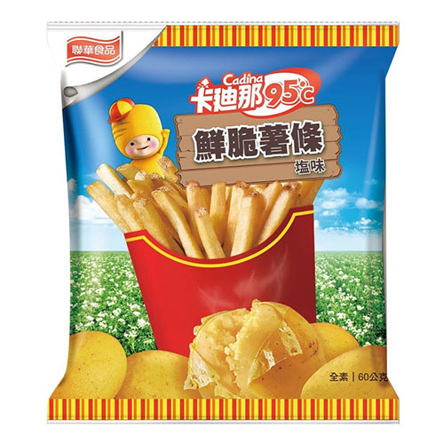 【 現貨 】卡迪那95℃鮮脆薯條鹽味 60公克 X 10包