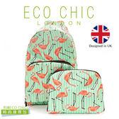 英國ECO CHIC時尚可折疊後背包-紅鶴