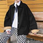 短外套韓版寬鬆素色百搭男士外套新款潮流休閒衣服秋季百搭上衣港風秋裝 潮人女鞋