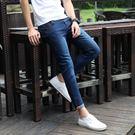 牛仔褲男 夏季薄款男士九分牛仔褲彈力9分褲韓版修身小腳褲休閒九分褲子潮 米蘭街頭
