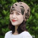 帽子女春夏封頂柔軟包頭帽頭巾帽蕾絲薄襯透氣堆堆帽光頭帽月子帽 果果新品