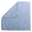 BURBERRY素面100%棉質方巾(淡藍色)081008
