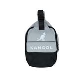 KANGOL袋鼠灰黑色單肩包-NO.6025301710