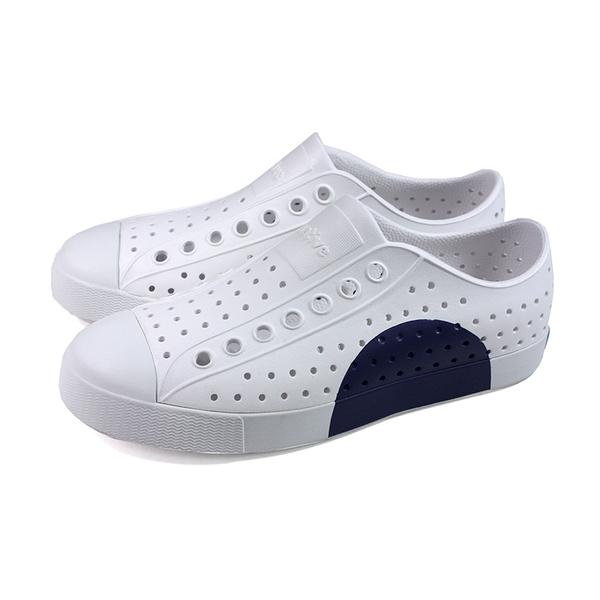 NATIVE JEFFERSON BLOCK 白藍三色休閒洞洞鞋 11100102-8920