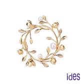 ides愛蒂思 歐美時尚設計天然淡水珍珠胸針/花環