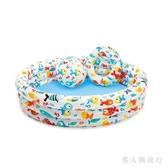 (132*28CM)海洋印花充氣游泳池兒童寶寶家用大號戲水池室內 DR27148【男人與流行】