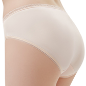 思薇爾-Tour-Dry系列M-XXL素面中腰三角內褲(粉柑色)