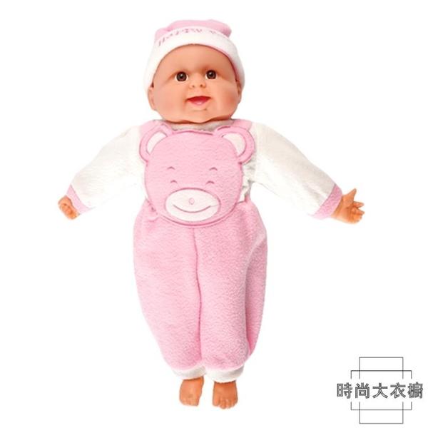 洋娃娃軟膠娃娃仿真嬰兒模型兒童玩具【時尚大衣櫥】