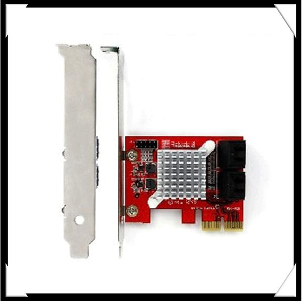 新竹【超人3C】SC342 4-Port SATA III擴充卡 支援開機安裝作業系統 支援Low Profile短鐵片設計