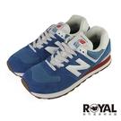 New balance 574 藍色 麂皮 休閒運動鞋 男女款NO.B1837【新竹皇家 ML574HC2】
