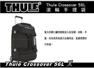   MyRack   Thule Crossover 56L 滾輪手提袋-黑  滾輪行李袋 旅行袋