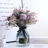 仿真假花簡歐式素雅淡粉紫田園繡球客廳餐桌客廳花草瓶器藝擺件卉 布衣潮人