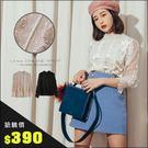 URES ★限時搶購390★小立領蕾絲滾...