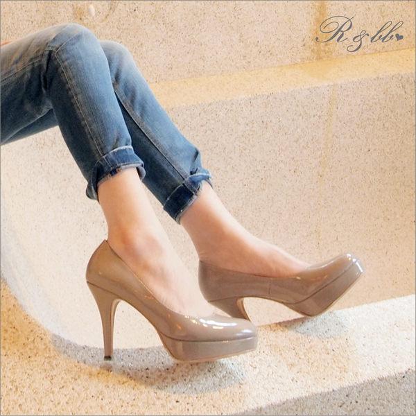 真皮高跟鞋-R&BB MIT手工羊皮製*舒壓氣墊素雅完美比例靜音防水台-黑/棕/粉/杏色(原皮款賣場)