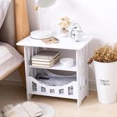 簡易小桌子沙發邊幾迷你方桌客廳簡約茶幾床邊收納櫃臥室床頭桌 NMS 樂活生活館