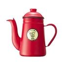 金時代書香咖啡 Kalita 大嘴鳥琺琅鶴嘴手沖咖啡壺 1000ml 鮮豔紅 #52123