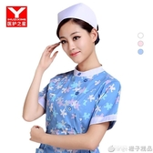 護士帽白色加厚 護士帽薄款夏季 男女醫生園帽子 護士服帽燕尾帽『橙子精品』