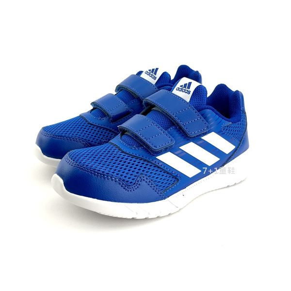 中大童 ADIDAS CQ0031 魔鬼氈 輕量透氣慢跑鞋《7+1童鞋》7304 藍色